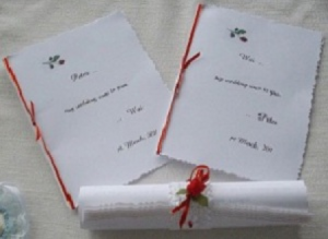 personal wedding vows booklets and wedding ceremony scroll