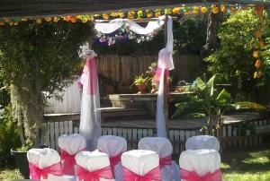 Brisbane outdoor home garden wedding setting
